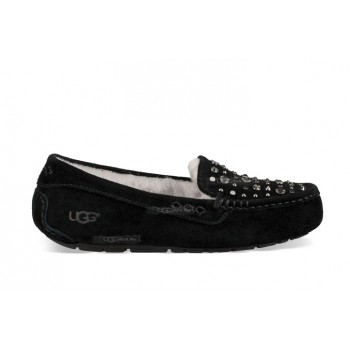 Ansley Studded Bling Slipper Black