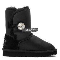 KIDS Bailey Button Bling Metallic Black