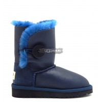 KIDS Bailey Button Metallic Blue