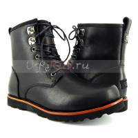 Mens Hannen Leather Black