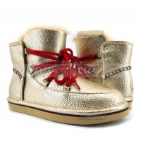UGG Jimmy Choo Lodge Mini Leather - Gold