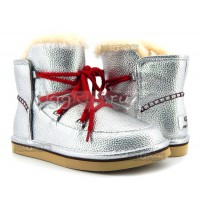 UGG Jimmy Choo Lodge Mini Leather - Silver