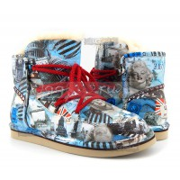 UGG Jimmy Choo Travel Fur Blue