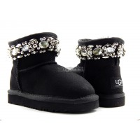 KIDS UGG Jimmy Choo Crystals Black