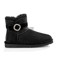 UGG KARLIE BROOCH BLACK