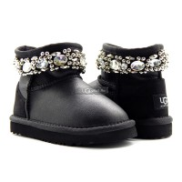 KIDS UGG Jimmy Choo Crystals Metallic Black