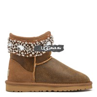 UGG Jimmy Choo Multicrystal Bomber Chestnut