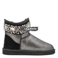 UGG Jimmy Choo Multicrystal Glitter Black