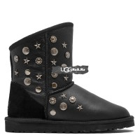 UGG Jimmy Choo Starlit Metallic Black