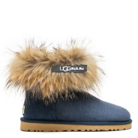 Mini Fox Fur Navy