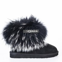Mini Fox Fur Ultra Black