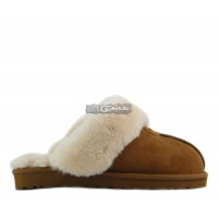 Slipper Scufette High Chestnut