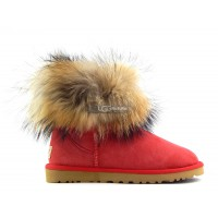 Mini Fox Fur Red