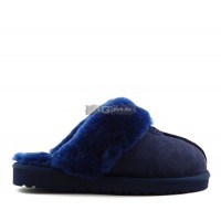 Slipper Scufette High Navy